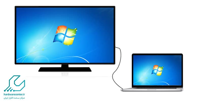 نحوه ی اتصال تلویزیون و لپ تاپ دل